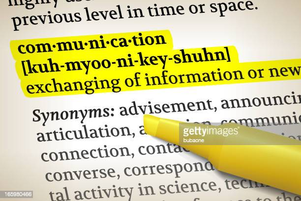Communication dictionary definition royalty free vector illustration