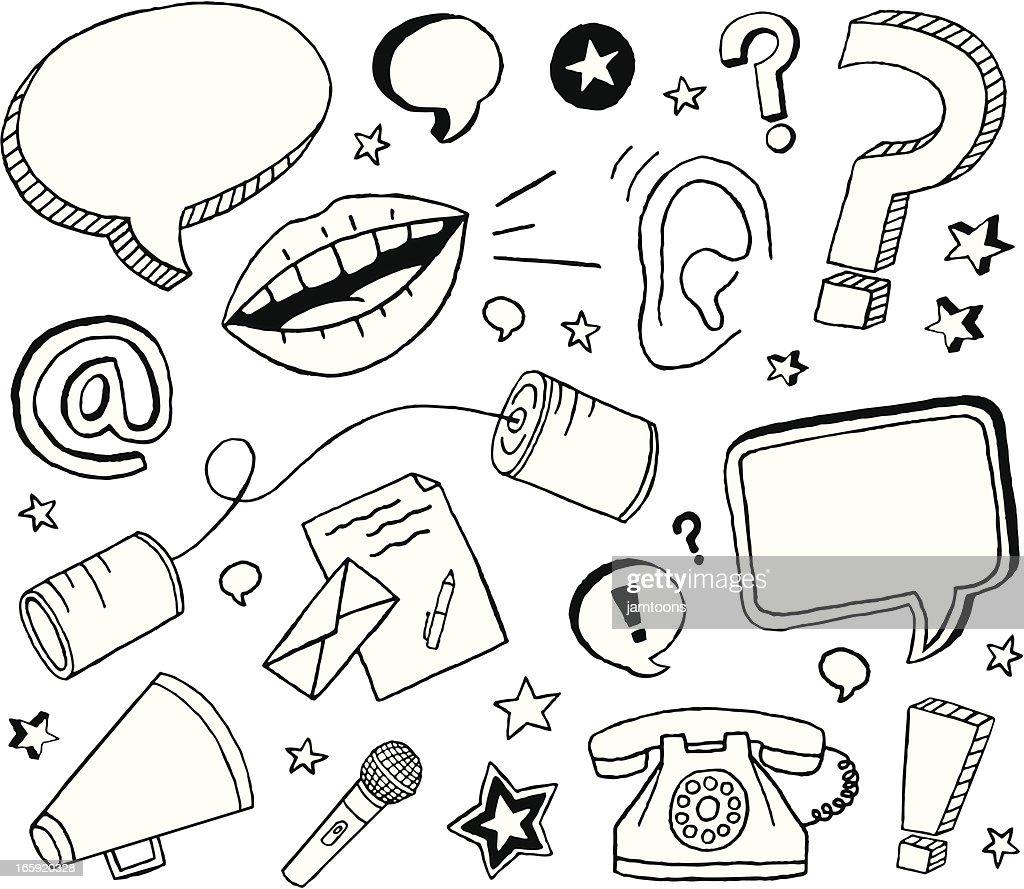 コミュニケーションのスケッチ : ストックイラストレーション