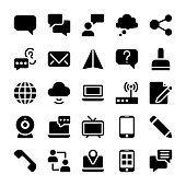 Communication Filled Icons Pack