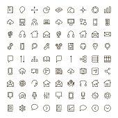 Communication flat icon