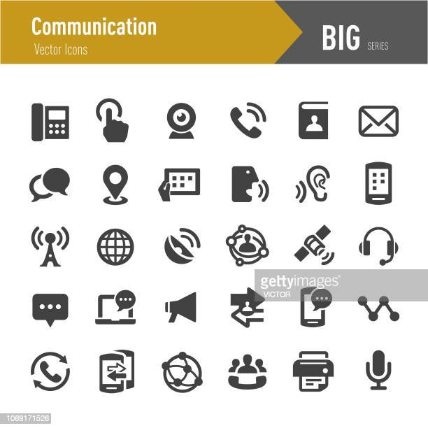 communication icon - big series - video conference stock illustrations