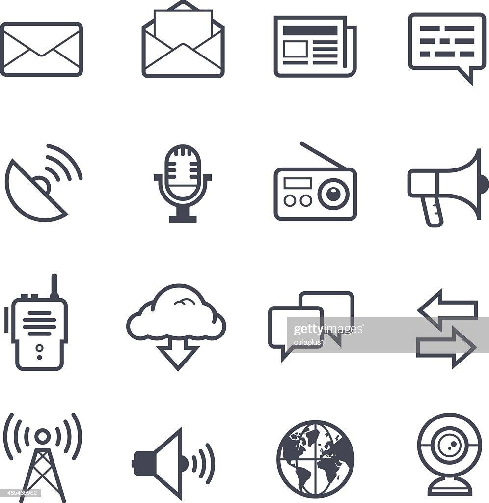 Communication Icon Bold Stroke