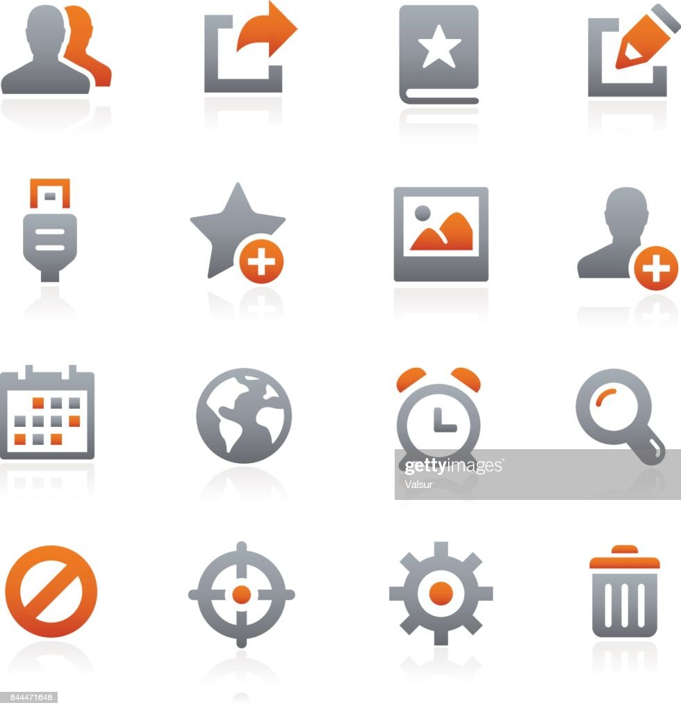 Communication Icon Set // Graphite Series