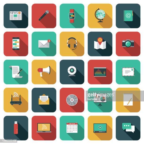 通信アイコンセット - 通知アイコン点のイラスト素材/クリップアート素材/マンガ素材/アイコン素材