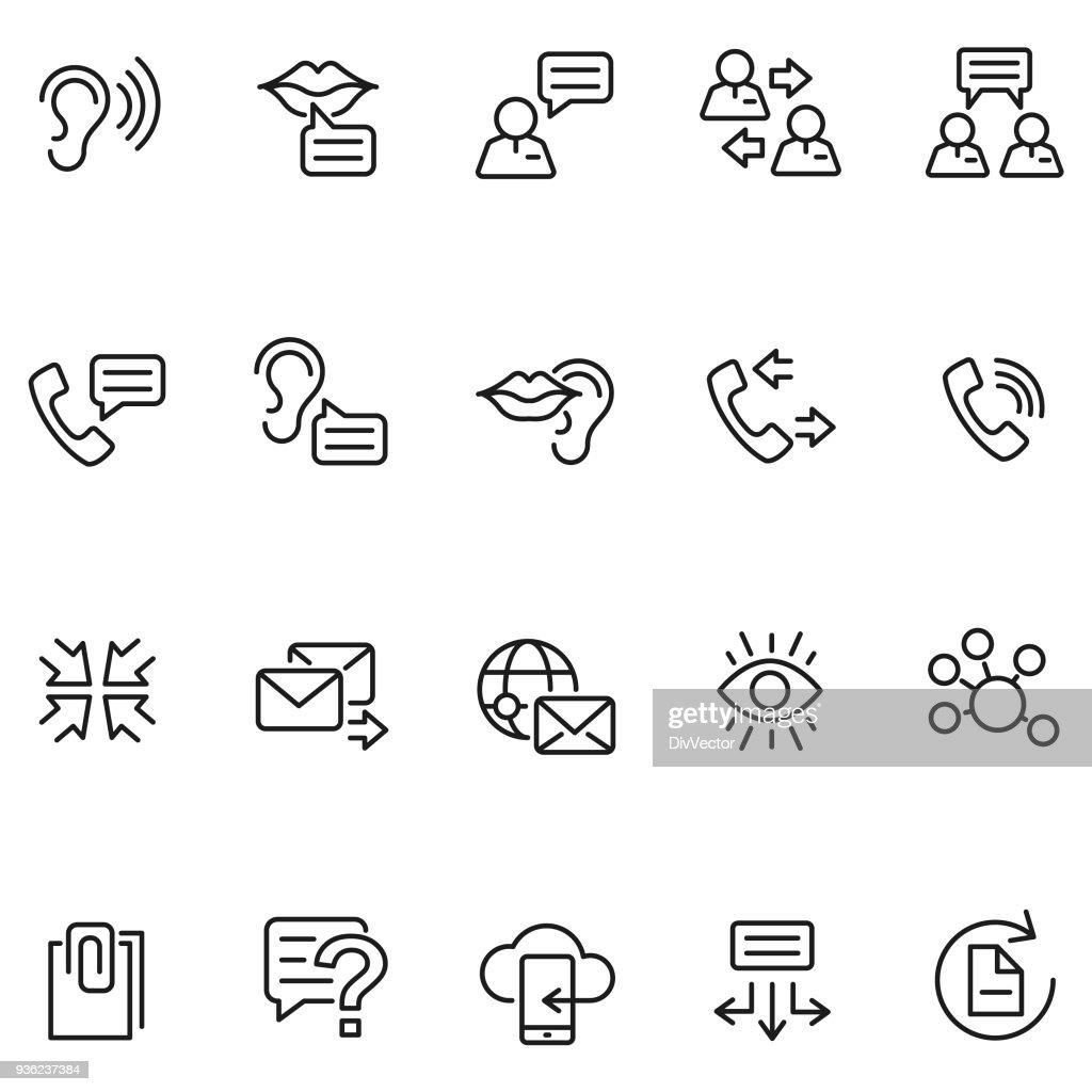 Communication icon set : Stock Illustration