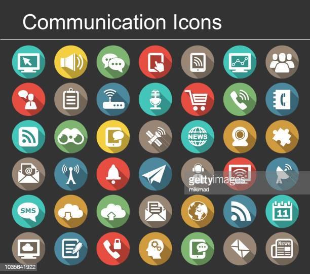 ilustrações, clipart, desenhos animados e ícones de ícone de comunicação - comunicação