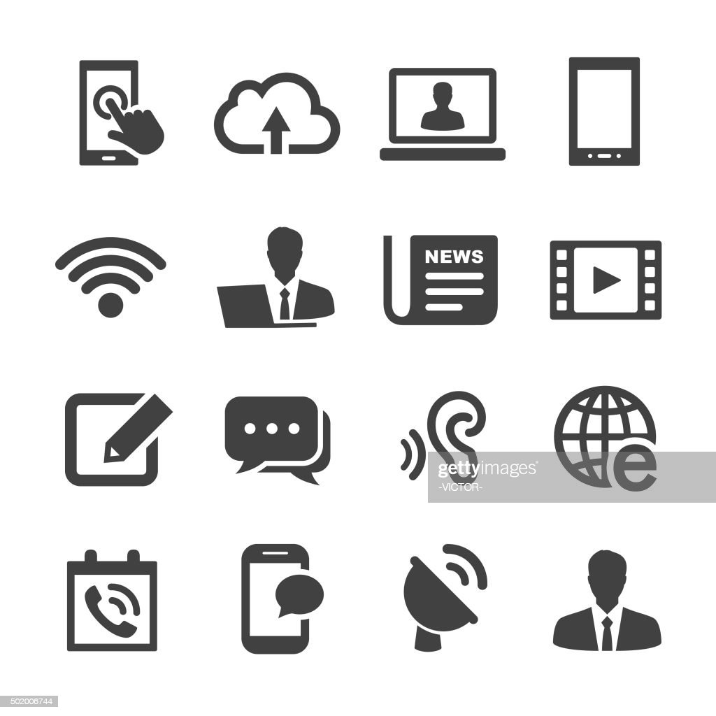 Communication Icons - Acme Series : stock illustration