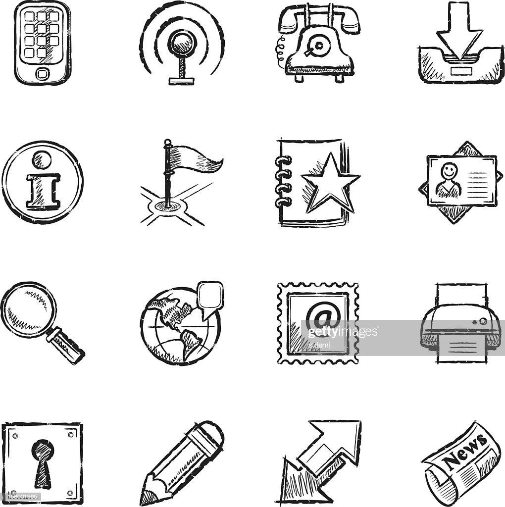 Communication icons background