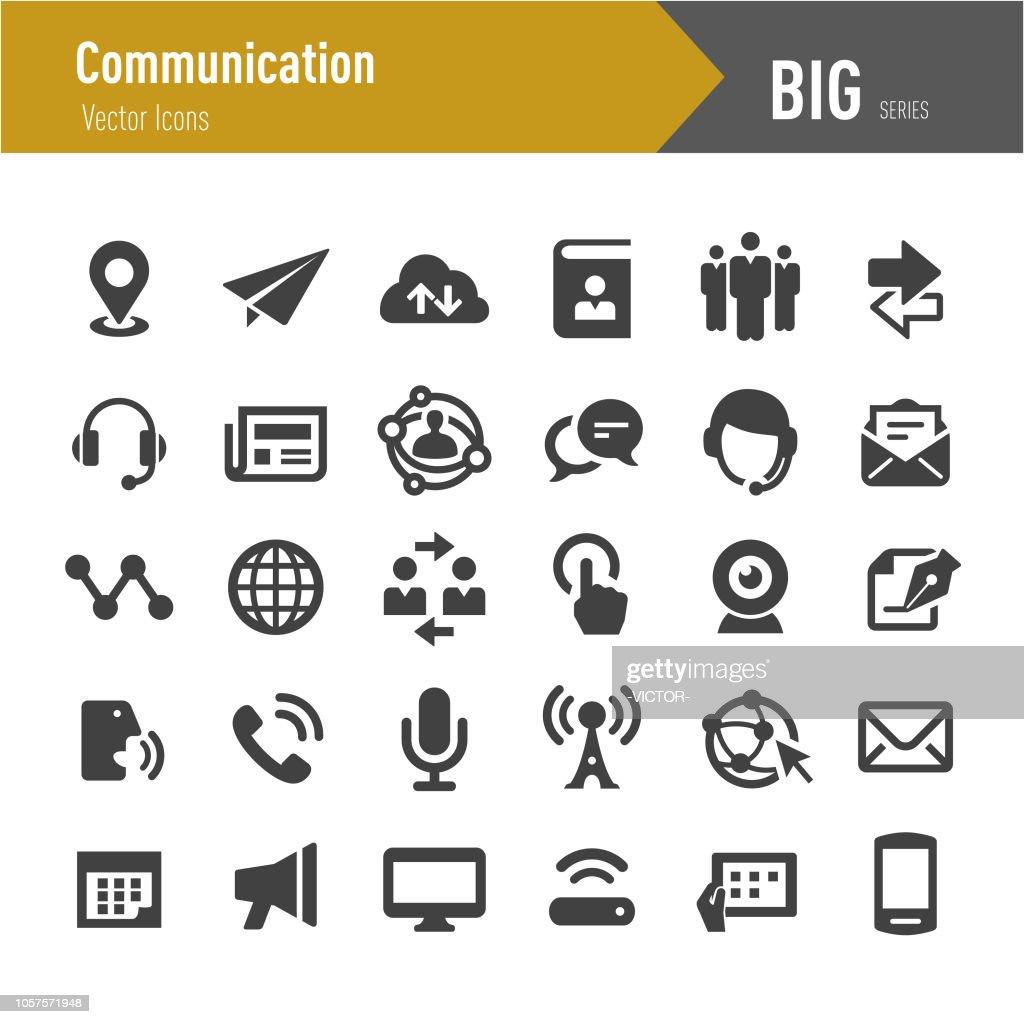 Communication Icons - Big Series : stock illustration