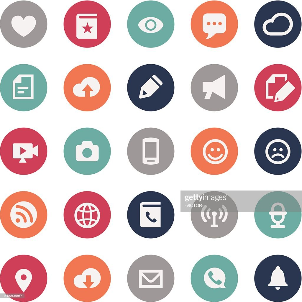 Communication Icons - Bijou Series
