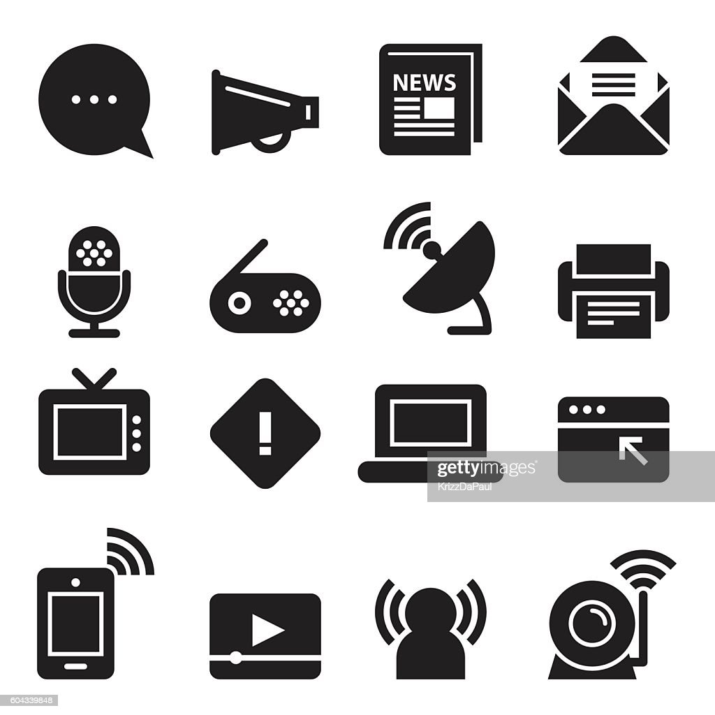 Communication Icons [Black Edition]