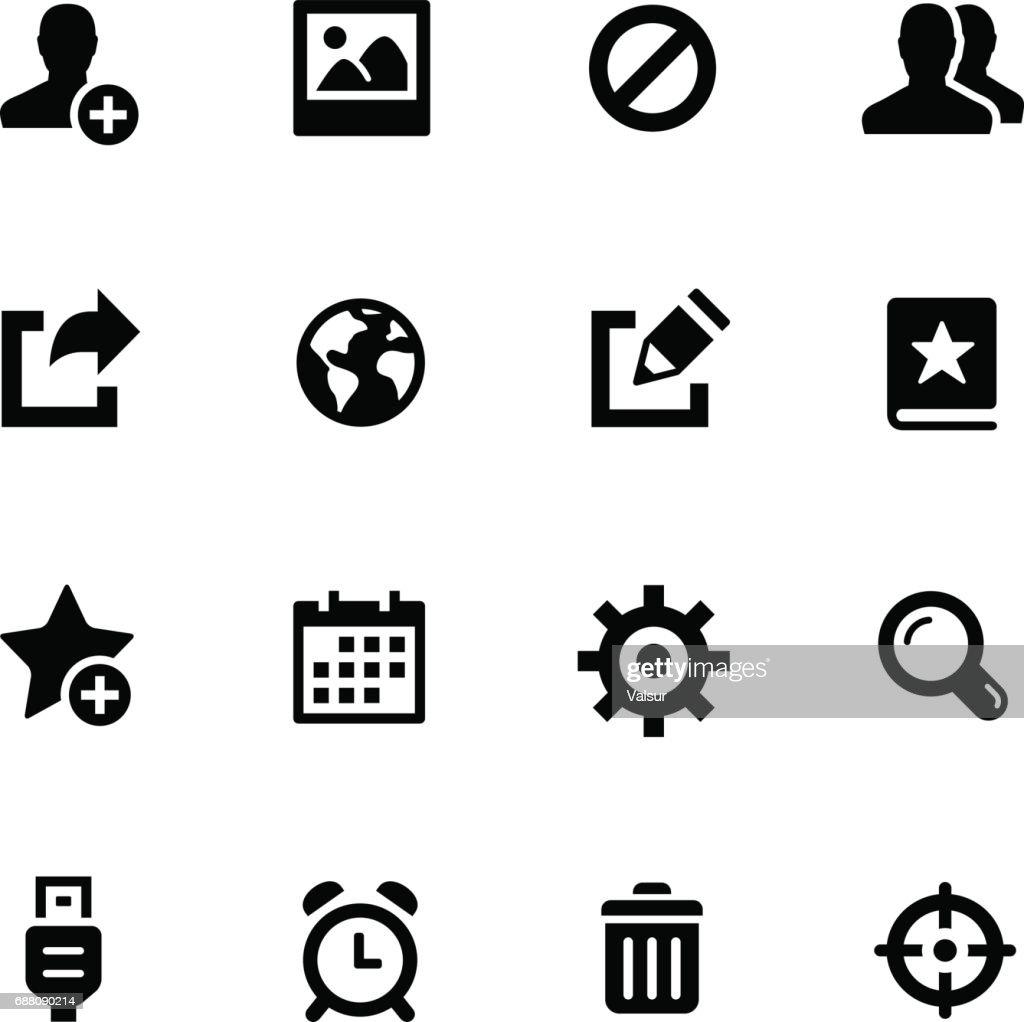 Communication Icons // Black Series
