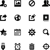 Communication Icons // Black Series