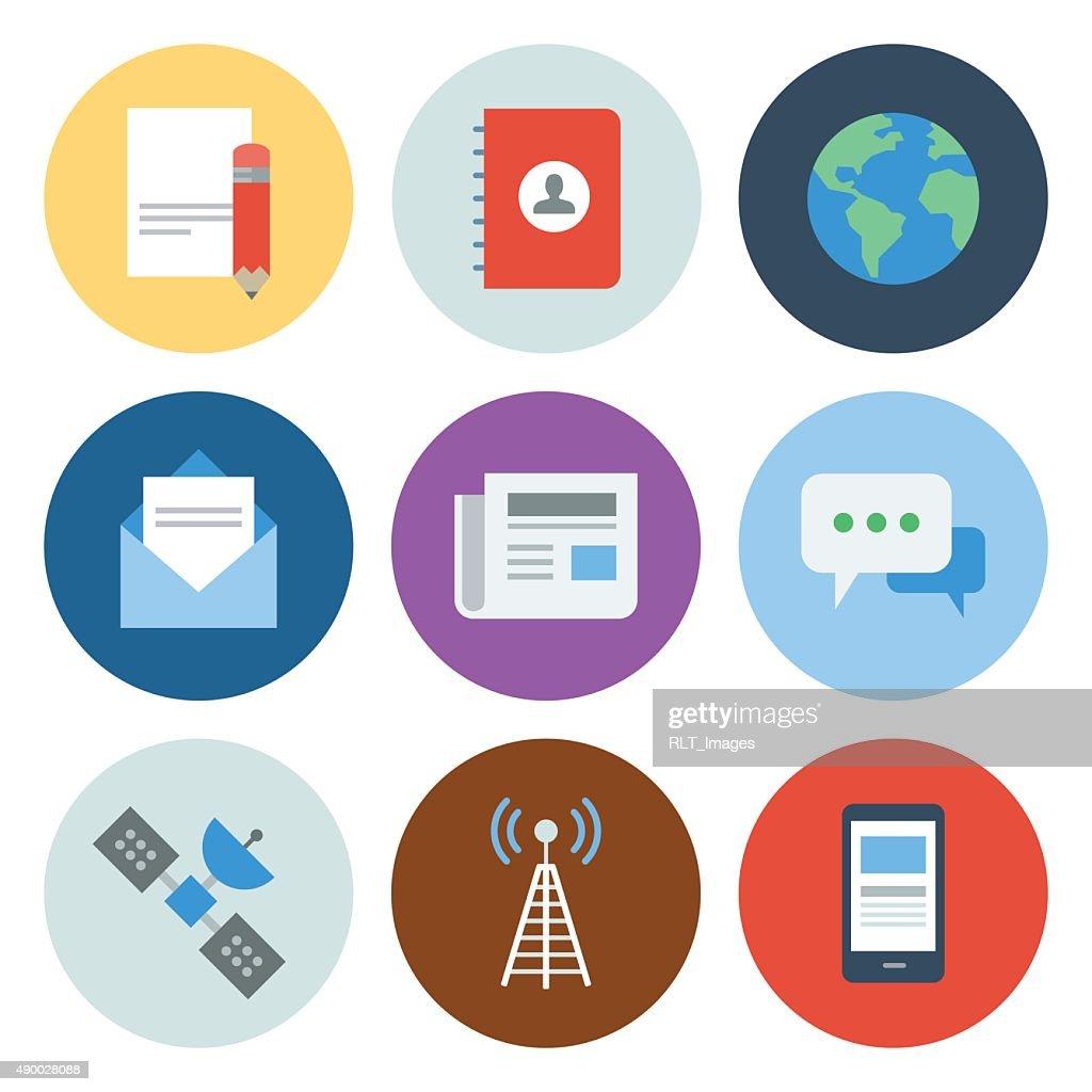 Communication Icons — Circle Series