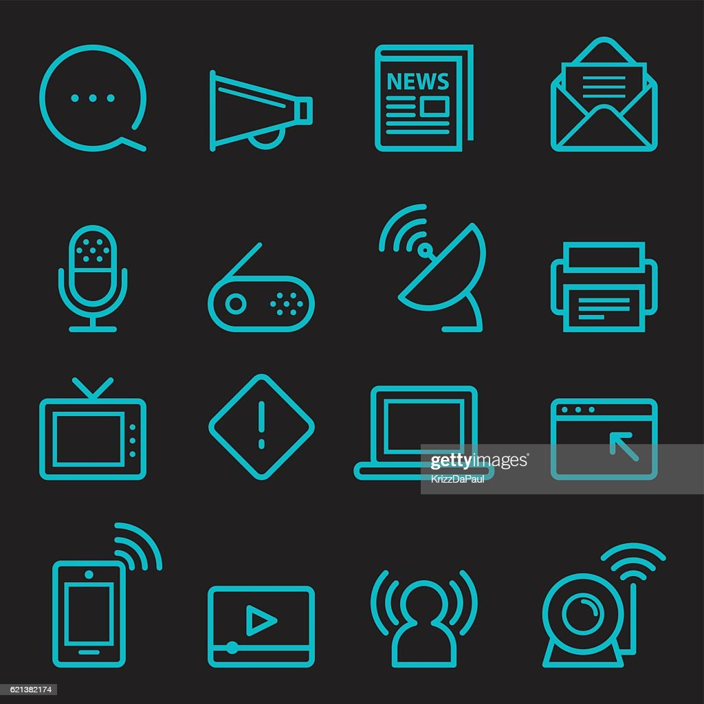 Communication Icons [Glow in the Dark]