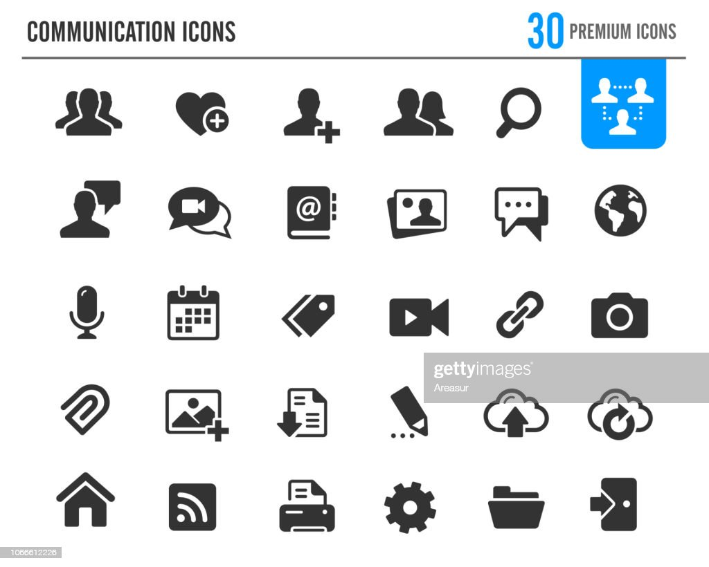 Communication Icons // Premium Series : stock illustration