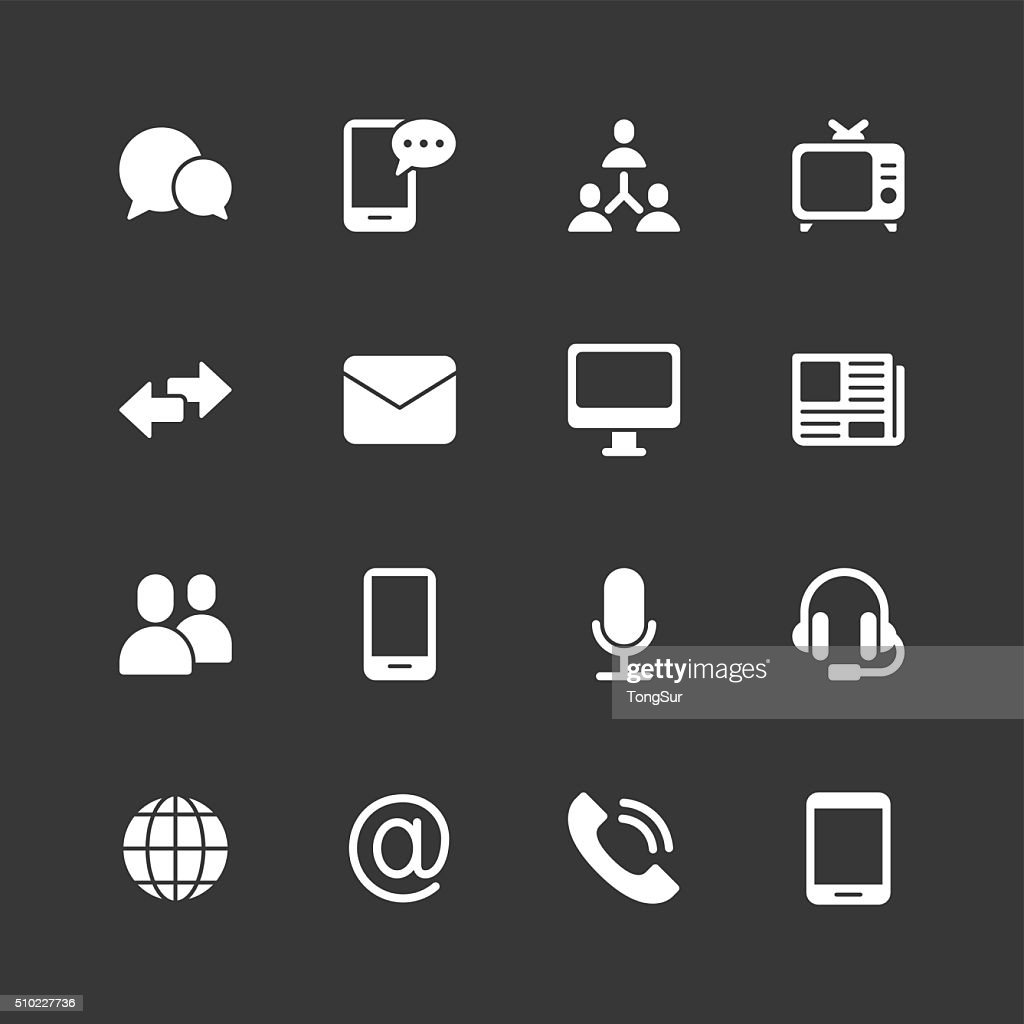 Communication icons - Regular - White Series