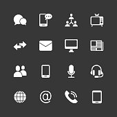 Communication icons - Regular - White Series