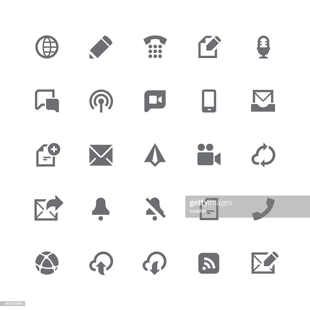 Communication icons | retina series