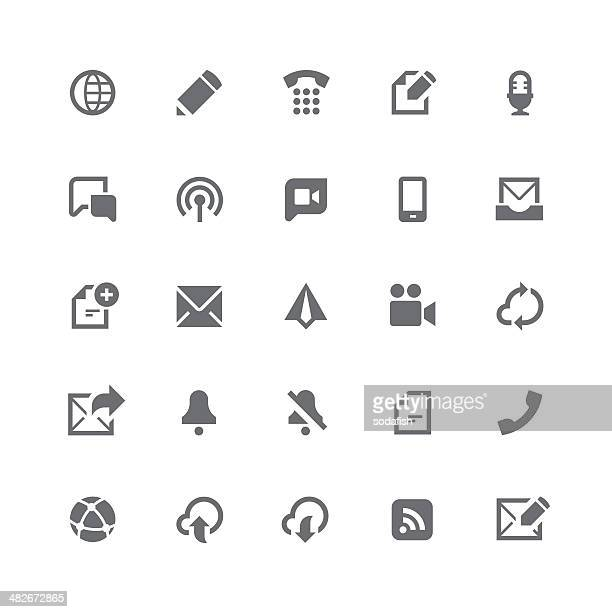 Communication icons | retina series