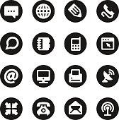 Communication Icons Set 1 - Black Circle Series