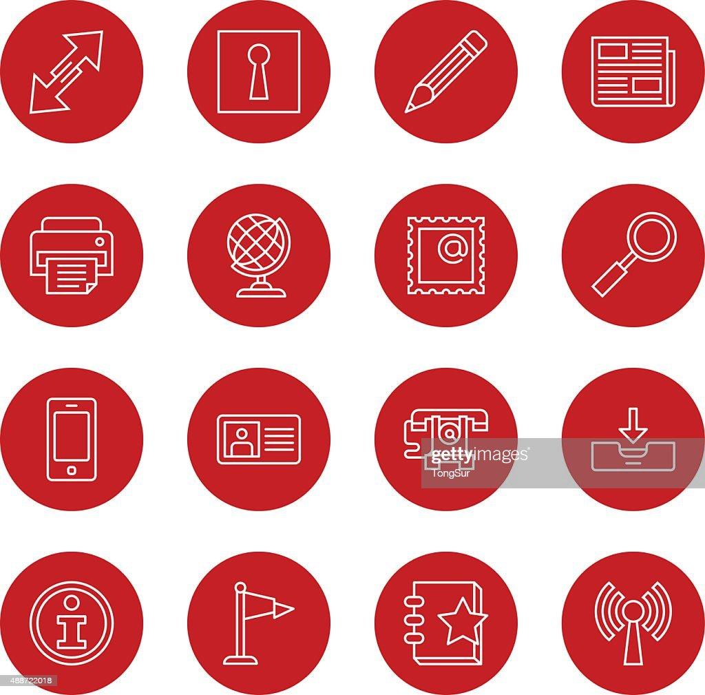Communication Icons | set 1 - Light - Circle