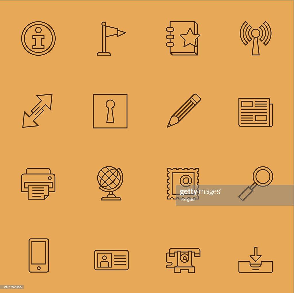 Communication Icons | set 1 - Light Color