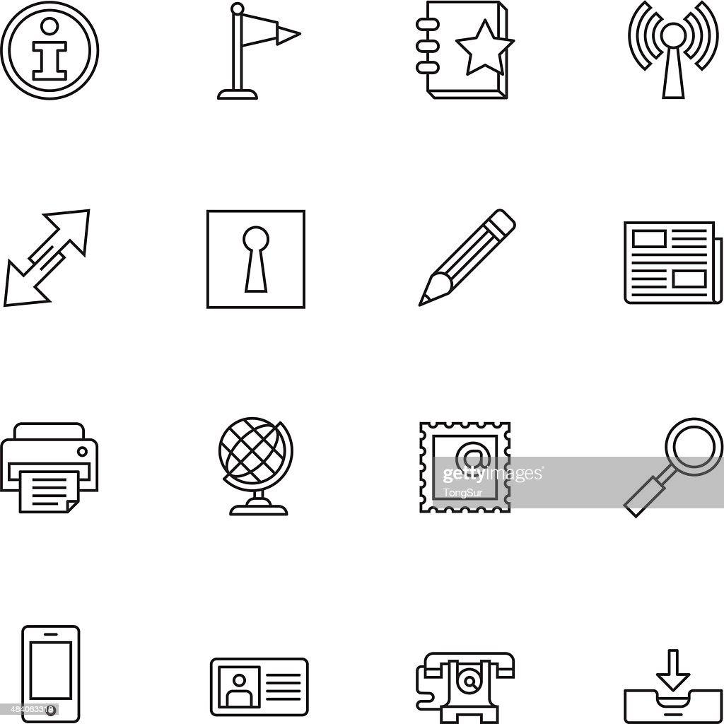 Communication Icons | set 1 - Light