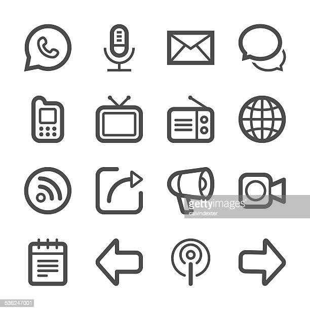 Communication Icons set 1 | Stroke Series