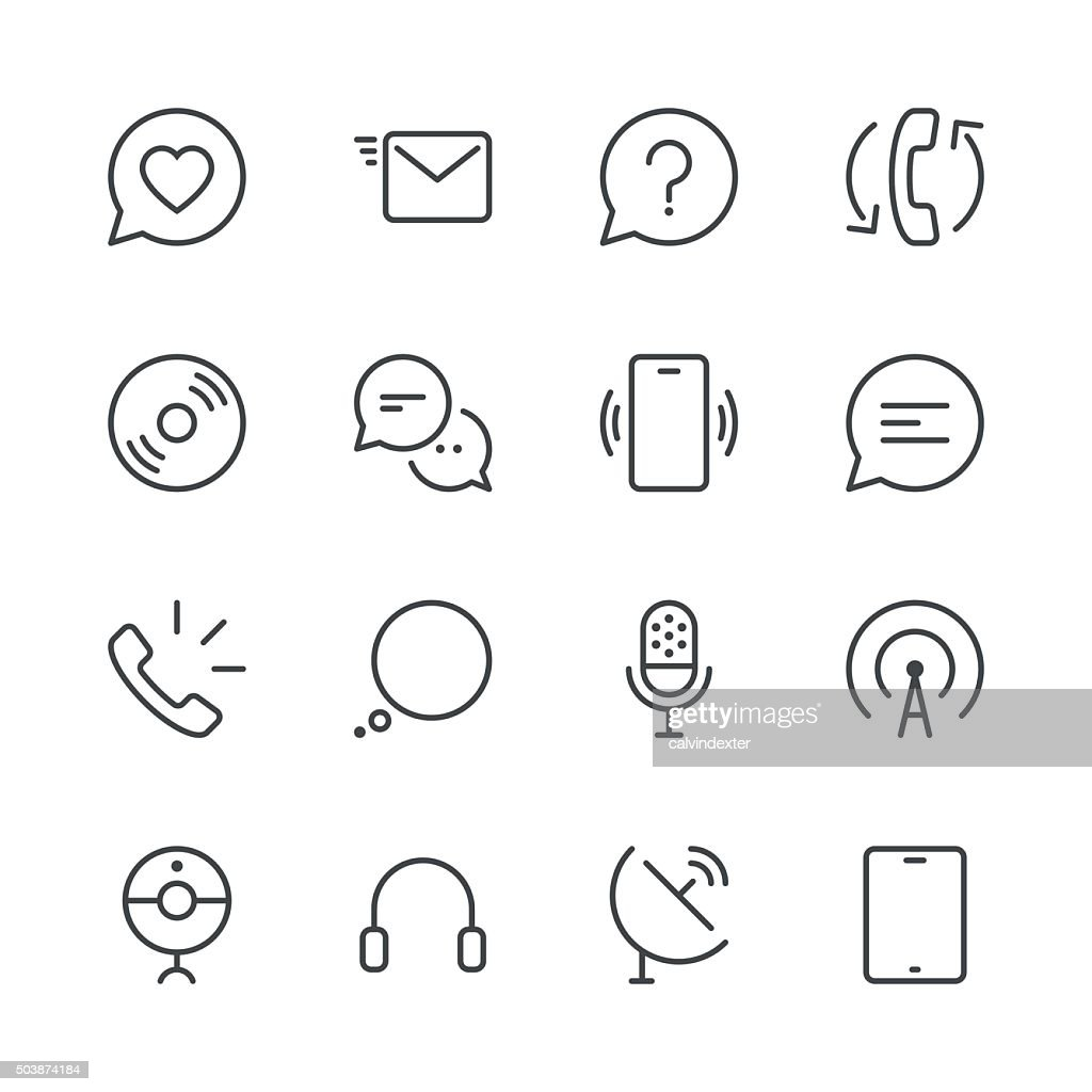 Communication Icons set 2 | Black Line series