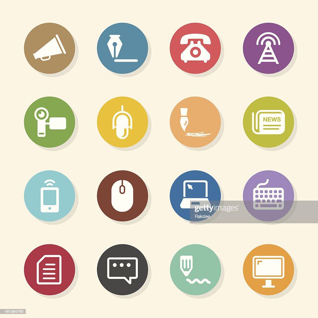 Communication Icons Set 2 - Color Circle Series