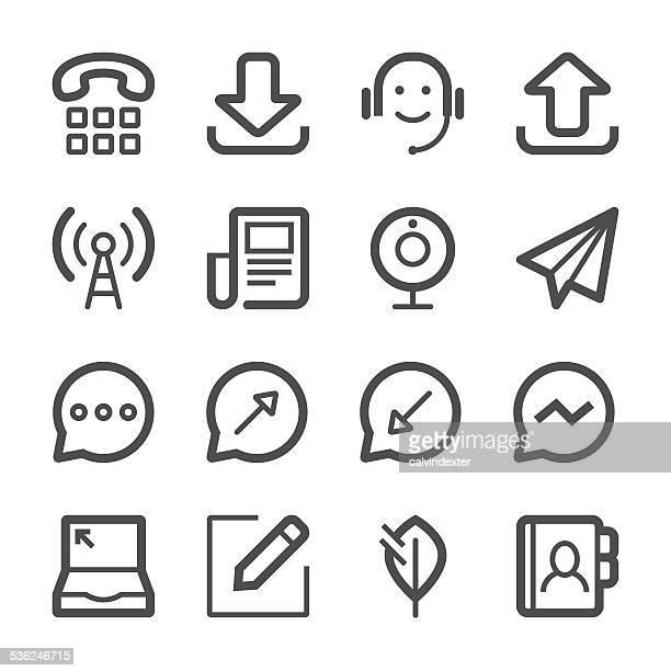ソーシャルメディアのアイコンセット 2 /ストロークシリーズ - send点のイラスト素材/クリップアート素材/マンガ素材/アイコン素材