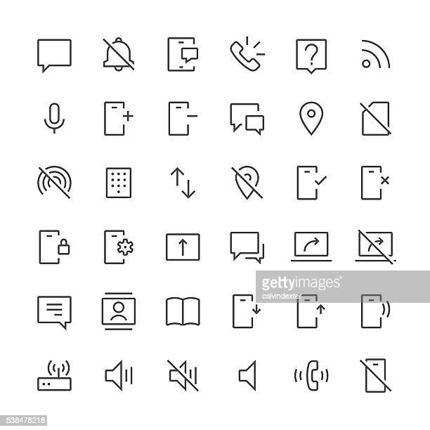 Communication icons set 2 | Thin Line series