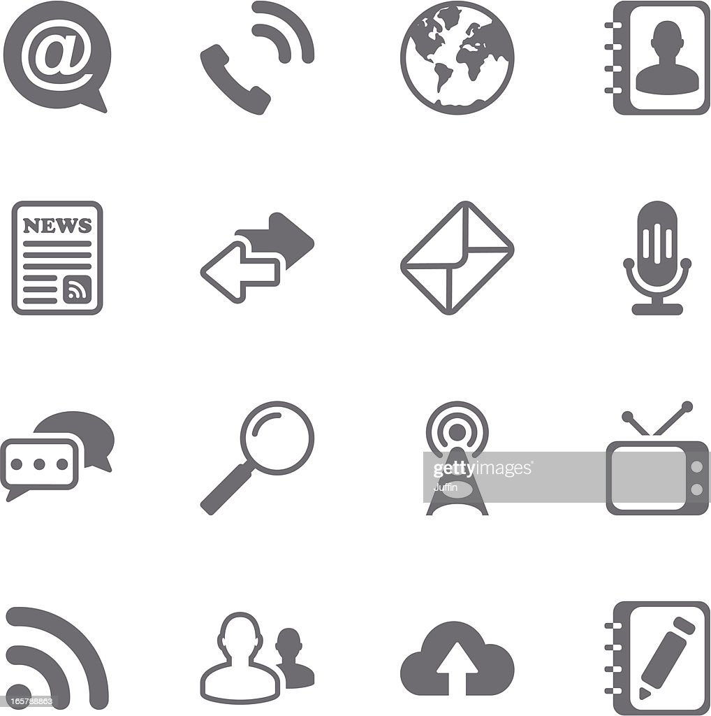 Communication icons set 2