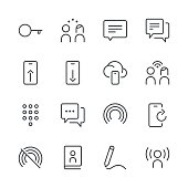 Communication Icons set 4 | Black Line series