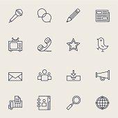 Communication Icons | set 4 - Light Color