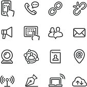 Communication Icons Set - Line Series