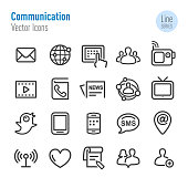 Communication Icons Set - Vector Line Series