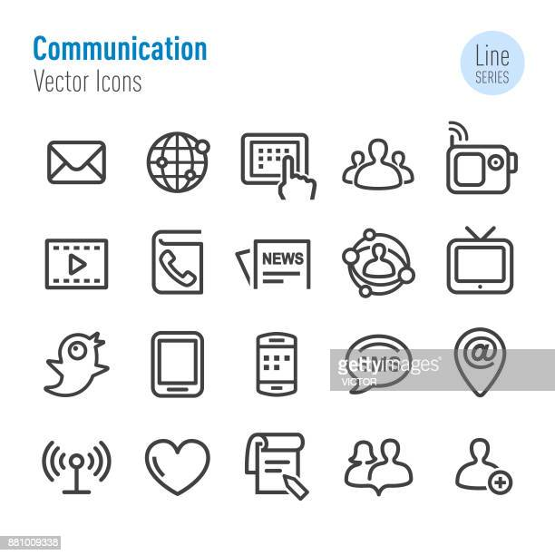 Communication Icons Set - Vector Line Series