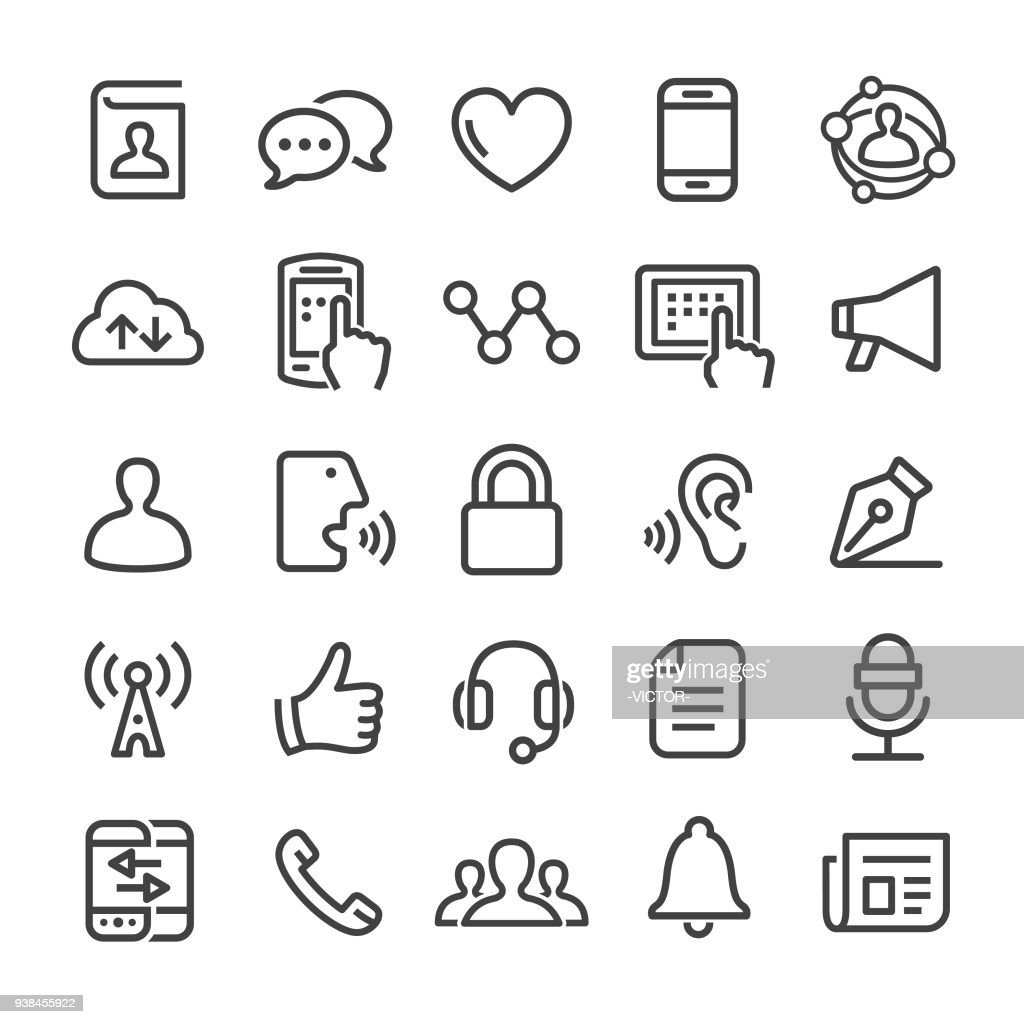 Communication Icons - Smart Line Series : stock illustration