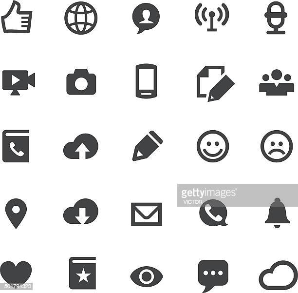 communication icons - smart series - small stock illustrations, clip art, cartoons, & icons