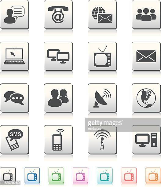 communication icons - answering machine stock illustrations, clip art, cartoons, & icons