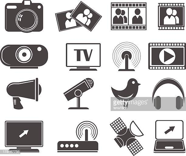 communication icons - figurine stock illustrations, clip art, cartoons, & icons