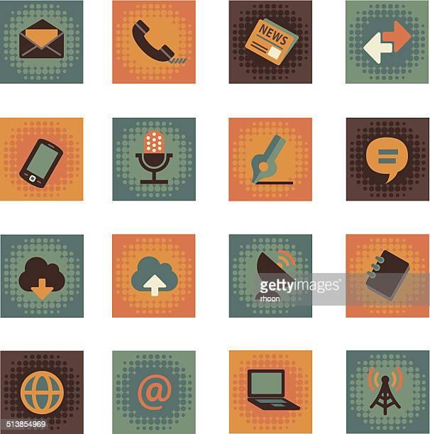 通信アイコン - シンジケーション点のイラスト素材/クリップアート素材/マンガ素材/アイコン素材