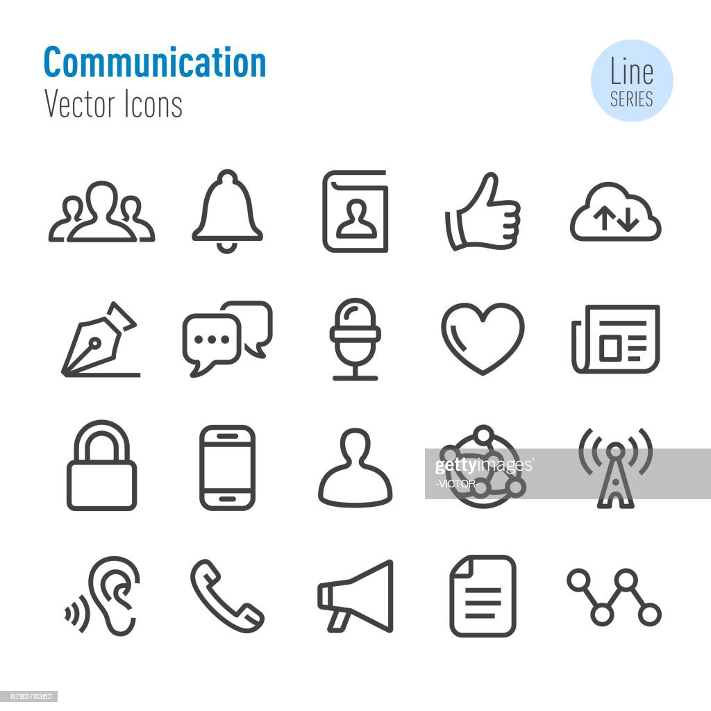 Communication Icons - Vector Line Series