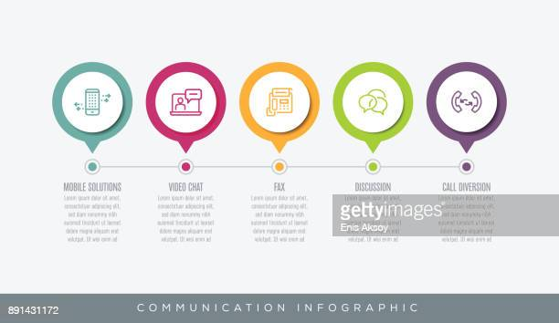 communication infographic - video conference stock illustrations