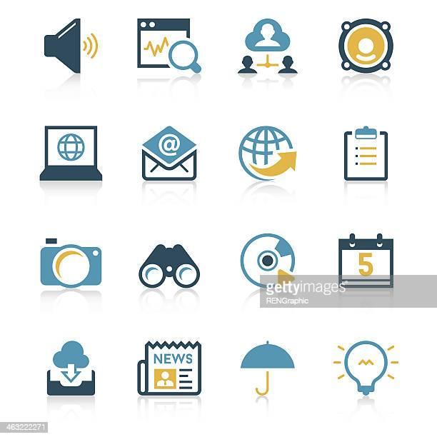 Communication & Internet Icon Set | Vivid Series