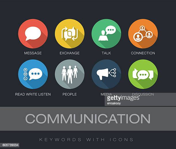Communication keywords with icons