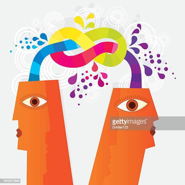 communication knot - ignoring stock illustrations, clip art, cartoons, & icons