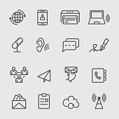 Communication line icon